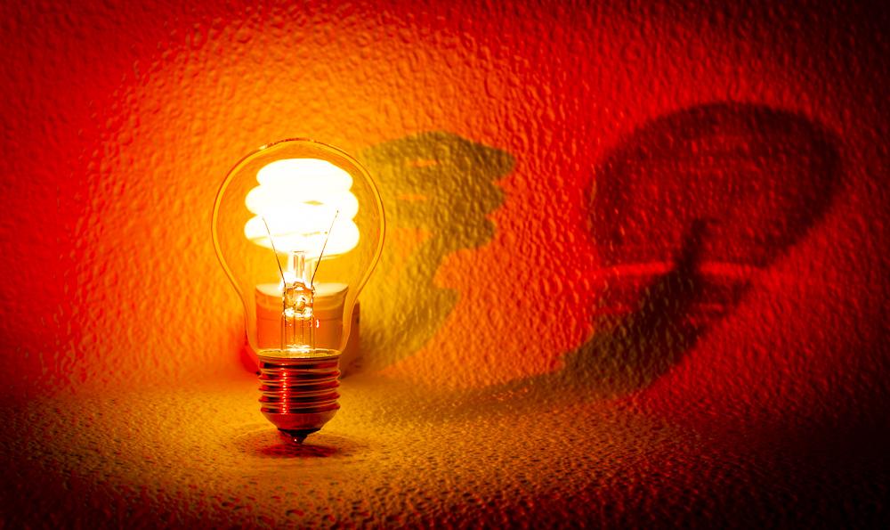 Червен гел на светкавицата