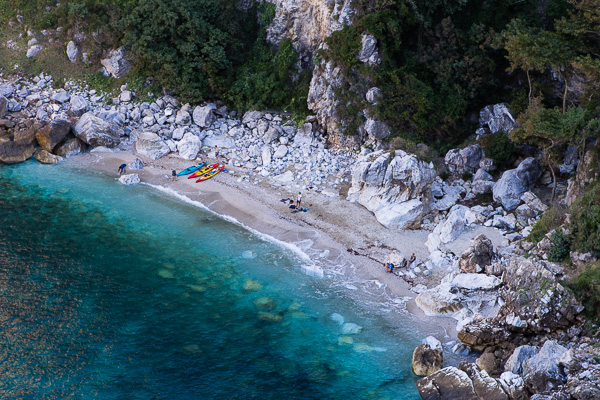 Скътан плаж на п-в Пилио